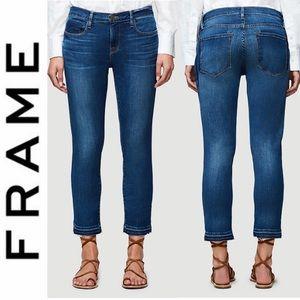 FRAME LGJRH179 Le Garcon Blue Boyfriend Jeans 25